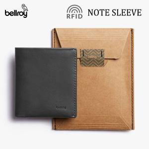 BELLROY,ベルロイ/財布,2つ折りタイプスリムウォレット/Note Sleeve Wallet/WNSC/CHARCOAL・チャコール/RFID Protection selfishsurf