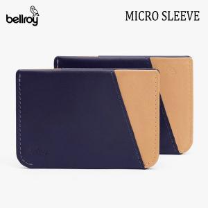BELLROY,ベルロイ/カードケース,スマートウォレット/Micro Sleeve/WMSB/NAVY/TAN・ネイビー/クレジットカードケース/財布/ミニマリスト/レザー/日本正規代理店品 selfishsurf