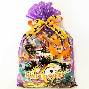 ハロウィン お菓子 詰め合わせ ハロウィン巾着L Halloweenお菓子をハロウィン柄の袋に詰め合...