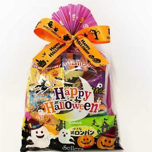ハロウィン お菓子 詰め合わせ 人気ナンバーワン ハロウィン巾着M 他店では手に入らない巾着袋に色々お菓子を詰め合わせ。販促に嬉しい198円
