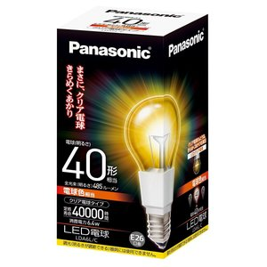 Panasonic LED電球 クリア電球タイプ 密閉形器具対応 電球40W相当 E26口金 LDA6L/C|sellsta