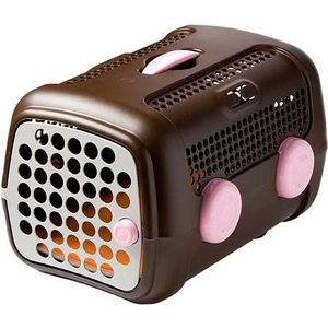 UNITED PETS(ユナイテッドペッツ)A.U.T.O.(オート)キャリーケース ブラウン/ピンク(MR) 犬猫ペット用品|semagasin