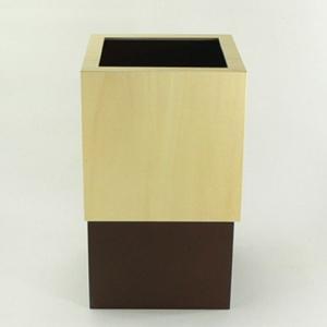 ヤマト工芸(ヤマトジャパン) W CUBE ダストボックス 10L ブラウン(YK06-012)|semagasin