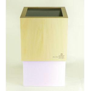 ヤマト工芸(ヤマトジャパン) W CUBE ダストボックス 10L パープルホワイト(YK06-012)|semagasin