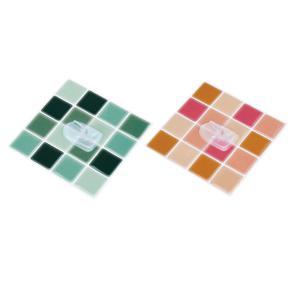 タイル調のフック付きステッカー2色組|semins-zakaa