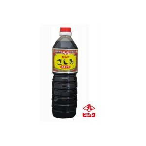 ヒシク藤安醸造 こいくち 甘口さしみ 1L×6本 箱入りl 同梱・代引不可 l しょうゆ お刺身 塩分14.5%|semins-zakaa