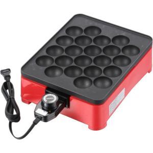 着脱式角型電気たこ焼き器22穴 CS3WA-0011温度調節器付 たこ焼きプレート アヒージョ|semins-zakaa