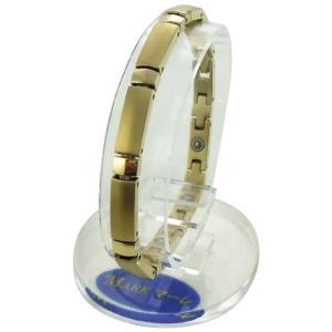 MARE(マーレ) ゲルマニウムブレスレット 14G/IP ミラー/マット 174M (18.0cm) H9392-03M純チタン 腕輪 ゴールド|semins-zakaa