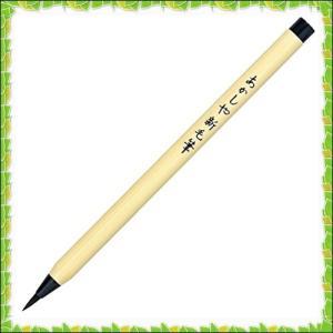 あかしや 筆ペン 新毛筆 黒 5本セット SA-300