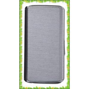 レイ・アウト Galaxy S6 edge ケース 手帳型スリムレザーケース スタンド機能付き シル...