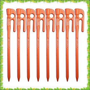 エリッゼ(ELLISSE) 鍛造ペグ エリッゼステーク 18cm オレンジ粉体塗装 MK-180OR...