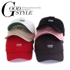 ローキャップ 帽子 ベースボールキャップ 野球帽子 レディース メンズ ロゴ one ローキャップ ベースボールキャップ|senastyle