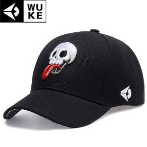 キャップ メンズ レディース ブラック 帽子 ベースボールキャップ 野球帽子 コットンキャップ シンプル ゴルフ帽子 骸骨 スカル b系 ドクロ|senastyle