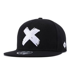 スナップバックキャップ スナップバック キャップ レディース メンズ ダンス X エックス バツ 黒 ブラック b系 snapback 帽子 クロス|senastyle