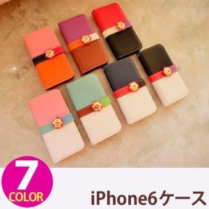 iPhone6 iPhone6s ケース 手帳型 横 合皮レザー ポリカーボネート ストラップ付き ストラップホール|senastyle