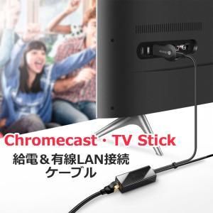 Chromecast TV Stick TV テレビ 有線LAN接続 ケーブル 接続ケーブル 変換ケ...