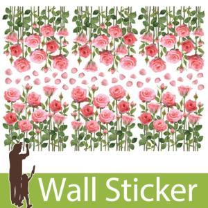 ウォールステッカー 花 フラワー おしゃれ かわいい 北欧 両面印刷 バラ 花 花びら 窓 ガラス 玄関 ベランダ 子供部屋 リビング インテリア シール のり付き|senastyle