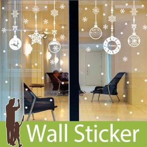ウォールステッカー 壁 クリスマス ツリー サンタクロース 雪 結晶 貼ってはがせる のりつき 壁紙シール ウォールシール ウォールステッカー本舗|senastyle