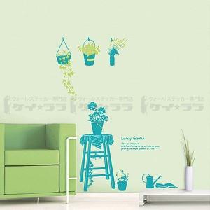 ウォールステッカー 壁 花 ラブリーガーデン 貼ってはがせる のりつき 壁紙シール ウォールシール 植物 木 リメイクシート|senastyle