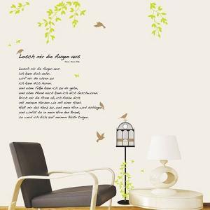ウォールステッカー 壁 木 木と鳥かご 貼ってはがせる のりつき 壁紙シール ウォールシール 植物 木 花 リメイクシート|senastyle