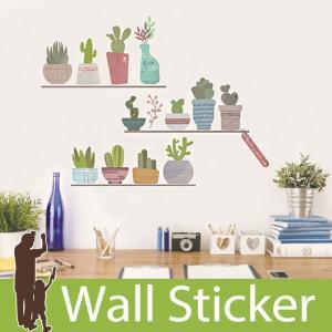ウォールステッカー 木 花 サボテン  壁紙シール ウォールステッカー 木 ウォールステッカー 壁紙 リメイクシート|senastyle