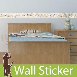 ウォールステッカー 壁 星 銀河水(帯状) 貼ってはがせる のりつき 壁紙シール ウォールシール リメイクシート|senastyle