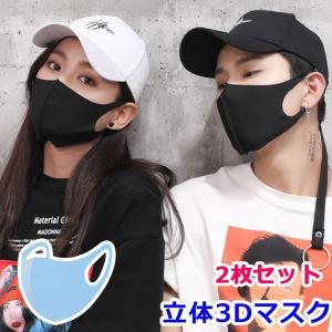 マスク 黒マスク ブラックマスク カッコイイ B系 ストリート コスプレ (2枚セット) 花粉 99...