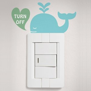 ウォールステッカー スイッチ コンセント 海 アンダー ザ シー 動物 貼ってはがせる のりつき 壁紙シール ウォールシール|senastyle
