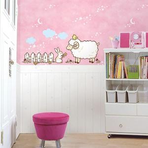 ウォールステッカー 壁 北欧 羊 貼ってはがせる のりつき 壁紙シール ウォールシール 動物|senastyle