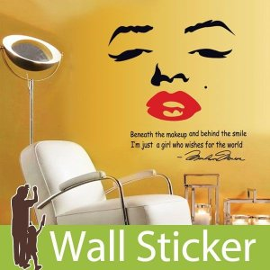 ウォールステッカー 壁 英語 文字 マリリンモンロー 貼ってはがせる のりつき 壁紙シール ウォールシール ウォールステッカー本舗 senastyle