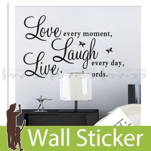 ウォールステッカー 壁 英語 文字 英字 英文字(Live) 貼ってはがせる のりつき 壁紙シール ウォールシール ウォールステッカー本舗 senastyle