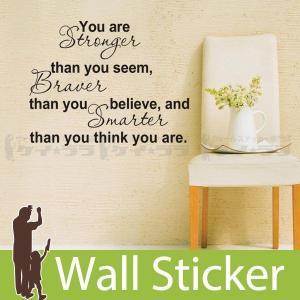 ウォールステッカー 壁 英語 文字 英字 英文字(You are) 転写タイプ 貼ってはがせる のりつき 壁紙シール ウォールシール ウォールステッカー本舗 senastyle
