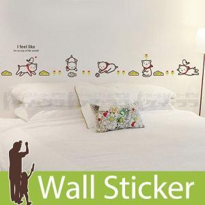 ウォールステッカー 壁 猫 かわいい白猫 貼ってはがせる のりつき 壁紙シール ウォールシール ウォールステッカー本舗|senastyle
