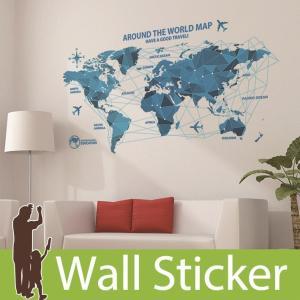ウォールステッカー 世界地図 アルファベット 貼ってはがせる のりつき 壁紙シール ウォールシール 植物 木 花|senastyle