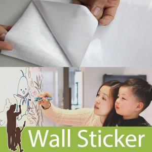 ウォールステッカー ホワイトボードシート 壁に貼ってはがせるホワイトボード 貼ってはがせる のりつき...