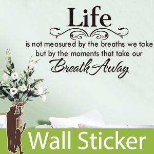 ウォールステッカー 壁 英語 文字 英字 英文字(Life) 貼ってはがせる のりつき 壁紙シール ウォールシール ウォールステッカー本舗 senastyle
