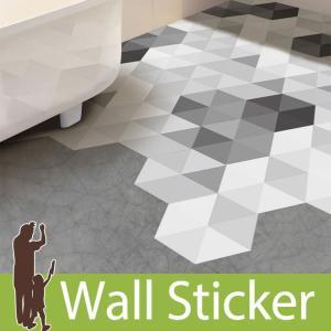 ウォールステッカー モノトーン 六角形 幾何学模様  六角形シール 10枚セット 北欧 リビング 壁紙シール インテリアシール y4|senastyle