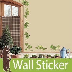 ウォールステッカー 葉 (エバーグリーンアイビー) ルームメイツ RoomMates 壁紙シール 貼ってはがせる のりつき ウォールシール|senastyle