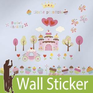 ウォールステッカー プリンセス (カップケーキランド) ルームメイツ RoomMates 壁紙シール 貼ってはがせる のりつき ウォールシール|senastyle