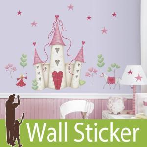 ウォールステッカー プリンセス (プリンセスキャッスル) ルームメイツ RoomMates 壁紙シール 貼ってはがせる のりつき ウォールシール|senastyle