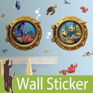 ウォールステッカー キャラクター ディズニー (ファインディング・ニモ) ルームメイツ RoomMates 壁紙シール 貼ってはがせる のりつき ウォールシール|senastyle