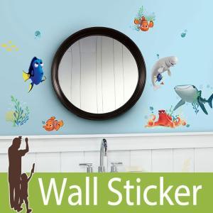 ウォールステッカー キャラクター ディズニー (ファインディング・ドリー) ルームメイツ RoomMates 壁紙シール 貼ってはがせる のりつき ウォールシール|senastyle