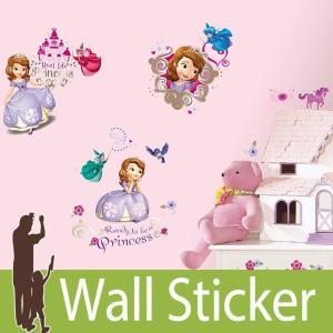 ウォールステッカー キャラクター ディズニー (ちいさなプリンセス ソフィア) ルームメイツ RoomMates 壁紙シール 貼ってはがせる のりつき ウォールシール|senastyle
