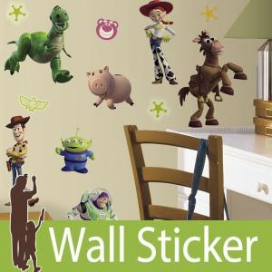 ウォールステッカー キャラクター ディズニー (トイ・ストーリー3) ルームメイツ RoomMates 壁紙シール 貼ってはがせる のりつき ウォールシール|senastyle