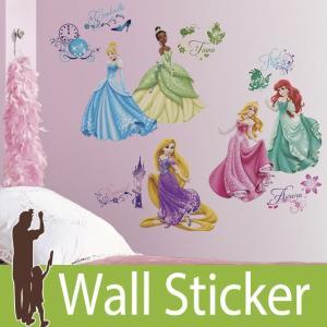 ウォールステッカー キャラクター ディズニー (キャラクター ディズニープリンセス) ルームメイツ RoomMates 壁紙シール 貼ってはがせる のりつき|senastyle