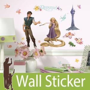ウォールステッカー キャラクター ディズニー (ラプンツェル) ルームメイツ RoomMates 壁紙シール 貼ってはがせる のりつき ウォールシール|senastyle