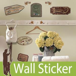 ウォールステッカー アンティーク (カントリーサイン) ルームメイツ RoomMates 壁紙シール 貼ってはがせる のりつき ウォールシール|senastyle