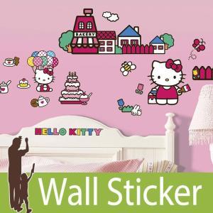 ウォールステッカー キャラクター (ワールド オブ ハローキティ) ルームメイツ RoomMates 壁紙シール 貼ってはがせる のりつき ウォールシール|senastyle