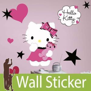 ウォールステッカー キャラクター (ハローキティクチュール(ジャイアント)) ルームメイツ RoomMates 壁紙シール 貼ってはがせる のりつき ウォールシール|senastyle