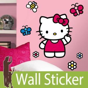 ウォールステッカー キャラクター (ワールド オブ ハローキティ(ジャイアント)) ルームメイツ RoomMates 壁紙シール 貼ってはがせる のりつき ウォールシール|senastyle
